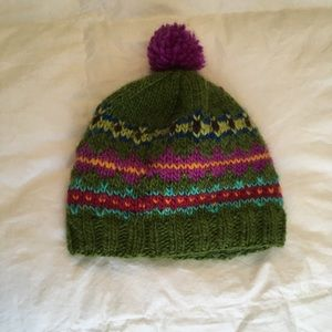 Handmade infant lined wool hat